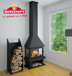 Building A House, Home Appliances, Wood, Inspiration, Pizza Ovens, Stoves, Fireplaces, Decorating Ideas, Gluten