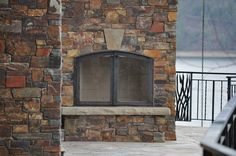 Montana Antique Ledge Thin Veneer from Montana Rockworks #stone #thin veneer #design ideas #natural stone #fireplace #exterior #patio #western #pritchard