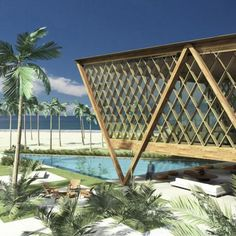 RGB | Bernardes Arquitetura Revit Architecture, Tropical Architecture, Architecture Art Design, Church Architecture, Architecture Details, Landscape Architecture, Cladding Design, Facade Design, Smart Home Design
