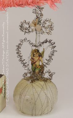 THE OLD CHRISTMAS STATION - Victorian ornaments :: wire wrapped :: Angel scrap :: Tinsel Heart :: Dresden Paper :: antique :: German Christmas Decorations :: Sebnitz :: old Cotton Ornaments :: Heubach :: Belsnickle :: Santas :: Kugels :: vintage :: Christmas Rarities
