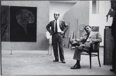 Ugo Mulas, Cardazzo and Lucio Fontana, XXI Biennale International Art Exhibition, 1958