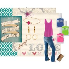 """""""Neon brights"""" by bulletblues on Polyvore www.bulletbluesca.com #madeinUSA"""