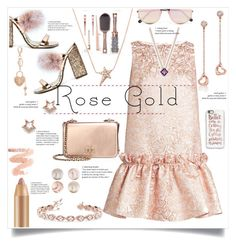 """Rose Gold"" by judysingley-polyvore ❤ liked on Polyvore featuring Tory Burch, Tiffany & Co., Sunday Somewhere, Osman, Casetify, Diane Kordas, Charlotte Russe, Sole Society, Allurez and rosegold"
