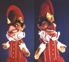 Mr. Punch, the clown doll