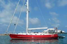 This Robert Perry designed cutter-rigged sloop, a Valiant 50, has a fine reputation as a 'go anywhere' cruising boat.