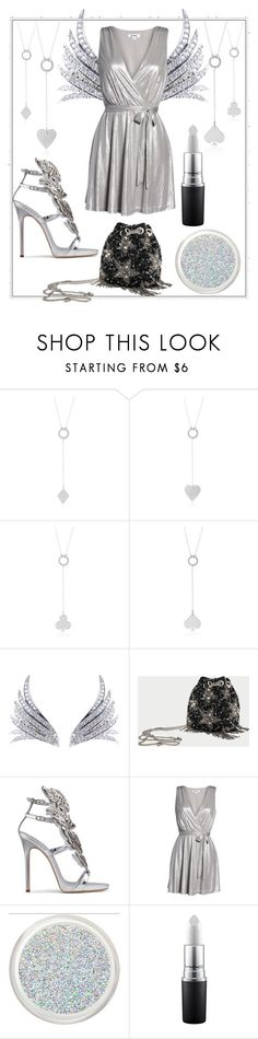 """""""Silver Angel"""" by pretty-and-practical ❤ liked on Polyvore featuring Ana Khouri, Stele, Giuseppe Zanotti and BB Dakota"""