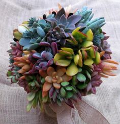 Wedding Bouquet made with brilliantly by SucculentSolutions, $90.00