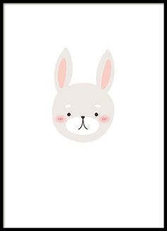 Poster met een schattige konijntje. Groot met onze tweede kind posters. Maak een mooie foto muur om de kinderkamer met onze populaire posters. www.desenio.nl