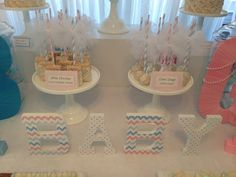 Sweet Simplicity Bakery — Gender Reveal Dessert/Candy Table in White, Pink...