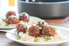 Sriracha teriyaki turkey meatballs from Life With the Champions | A Wedding, Fitness, Food & Lifestyle Blog
