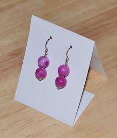 TurtleXIII Jewelry: DIY Folded Earring Card/Display