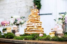 Forest inspired dessert table with Andi Freeman Cakes, Anges de Sucres, Louise Beukes Styling at Le Verger, France