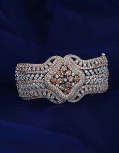 Browse unique range in American diamond bracelet online for women at best price by Anuradha Art Jewellery. Get beautiful collection in designer bracelet, bangle bracelet & tennis bracelets. Diamond Bracelets, Diamond Jewelry, Bangle Bracelets, Bangles, Jewelry Art, Gold Jewelry, Jewelery, Fashion Jewelry, Bracelet Designs