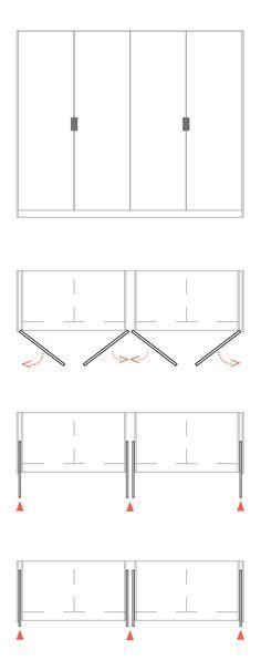 sistema de puertas reentables Darwin, máxima ergonomía