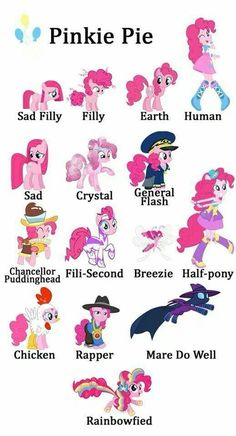Pinkie Pie forms