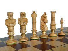 Unique Luxury Oak Wooden Chess Set  Large 65x65cm by StylishChess