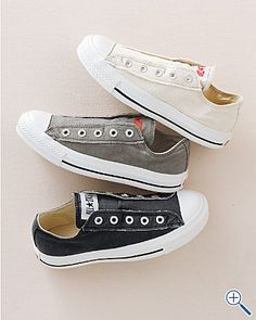 Converse Canvas Slip-Ons, essential in any neutral color (cream, grey, olive, navy)