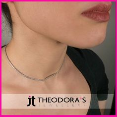 Short silver riviera necklace for women with white zirconia and sterling silver 925o that doesn't darken. A classic and timeless necklace that you should have in your collection!----------------------------------------------------------Γυναικείο κοντό ασημένιο κολιέ ριβιέρα με λευκά ζιργκόν και επιπλατινωμένο ασήμι 925ο που δεν μαυρίζει. Ένα κλασικό και διαχρονικό γυναικείο κολιέ που συμπληρώνει ιδανικά την εμφάνισή σας!
