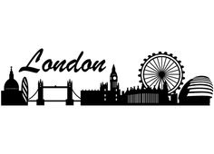 London Skyline Silhouette Silhouettes Vinyls Undefined