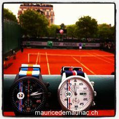 Roland Garros ATP Tennis Paris.  With Swiss manufactured watches from #mauricedemauriac  http://mauricedemauriac.ch/