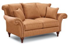 Sofa Accents Traditional Stationary Settee With Rolled Arms and Loose