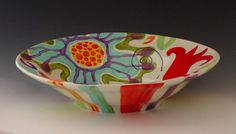 Large Bowl  Urban Fusion Extra Large Peasant Bowl  by romyandclare, $110.00