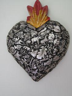 heart made of many tiny milagros #jcrew #myshoestory