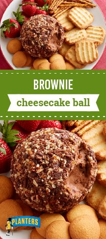 Brownie Cheesecake Ball – Kick up your feet and relax while you refrigerate this creamy treat until firm. Crumbled brownies help make this make-ahead party dessert recipe so delicious!