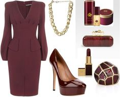 Strange, but I love this color and could definitely fill out that dress. ShopStyle: by özgee Office Fashion, Daily Fashion, Avon Perfume, Office Attire, Classy And Fabulous, Chic Outfits, Evening Gowns, Fashion Looks, Girly