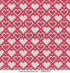 Stricken Ornamental Pattern For Knitting And Embroidery Heart Stock Photos, Images, & Pic. Embroidery Hearts, Cross Stitch Embroidery, Cross Stitch Patterns, Knitting Charts, Knitting Stitches, Knitting Patterns, Tapestry Crochet Patterns, Cross Stitch Heart, Fair Isle Knitting