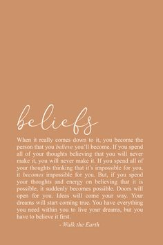 Inspirational Beliefs Quotes, Be Yourself Poetry - You get to decide exactly who you'll become. Start believing in yourself! Self Love Quotes, Words Quotes, Quotes To Live By, Me Quotes, Motivational Quotes, Inspirational Quotes, Self Belief Quotes, Sayings, Poetry Quotes