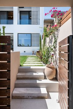 fos villa in Chania is brand new designed villa for up to 10 persons with pool.Fosvilla is located at the entrance of Galatas village distance from the centre of Chania city and enjoys views of the Mediterranean sea and Chania town. Stone Stairs, Stone Path, House Entrance, Mediterranean Sea, Crete, Villas, Paths, Hotels, Vacation