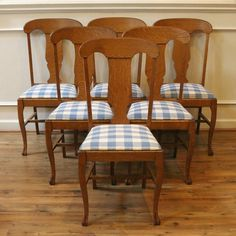 6 Antique American Empire Dining Chairs Farmhouse Decor Scandinavia