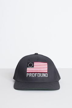 Profound Aesthetic American Dream Snapback Hat in Black http://profoundco.com/collections/hats/products/american-dream-snapback-hat-black