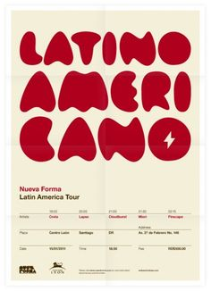 Nueva Forma Latin America Tour Poster...it just feels Latin doesn't it? Beautiful!