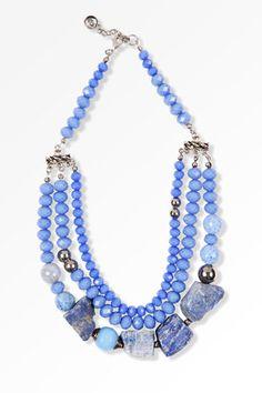 Vakko #Necklace #Accessories #Blue