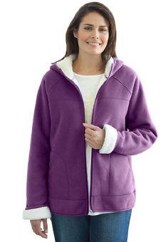 Woman Within Plus Size Jacket In Hooded Fleece $32.88