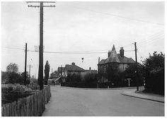 Junction of St Nicholas Lane, ( on the right ) with Laindon High Road.