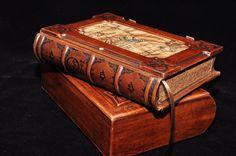 Handmade brown leather journal