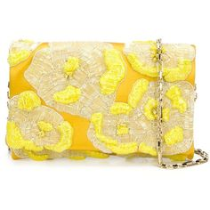 Oscar de la Renta floral bead clutch ($2,295) ❤ liked on Polyvore featuring bags, handbags, clutches, borse, purses, floral handbags, flower print purse, flower print handbags, satin purse and oscar de la renta purse