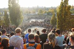 The neighborhood's once Prenzlauer Berg - humble park has become a local legend, as thousands of spectators stand on its hills to watch The Mauerpark Karaoke.