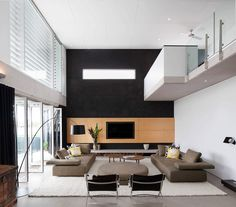 This contemporary two-storey private house is situated in Mooloolaba Beach, Australia. Photography by Lucas Muro Contemporary Interior Design, Best Interior Design, Interior Design Inspiration, Decoration Inspiration, Contemporary Homes, Modern Homes, Design Ideas, Large Floor Lamp, Sweet Home