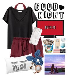 """""""Good night 💕😴"""" by maris3456 ❤ liked on Polyvore featuring Victoria's Secret, H&M, Laura Mercier, NARS Cosmetics, Dorothy Perkins and Happy Plugs"""