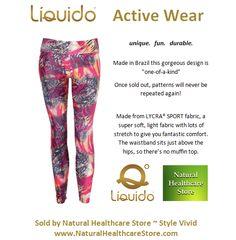 Liquido Activewear. Vivid Patterned Hot Pants. unique. fun. durable. one-of-a-kind. limited edition prints,  http://www.naturalhealthcarestore.com/