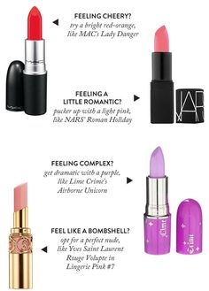 How to Match Your Lipstick to Your Mood