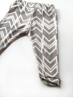 Baby Leggings, 3-6M, Stone Gray Ikat Braid, Organic Skinny Baby Pants. $37.65, via Etsy.
