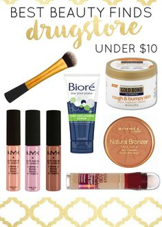 Best drugstore makeup and beauty finds -- all makeup under $10! You need these on your shopping list!