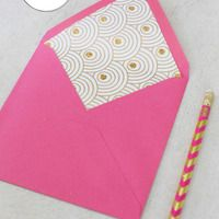 love this....DIY Lined Envelopes