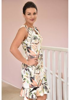 Joseph Ribkoff 70 s Style Tropical Print Dress - Style 225- Dresses- Online Boutique Ireland | Womens Clothing Boutique