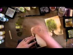 Texturing Cards Tags and Scrapbooking Pages - YouTube